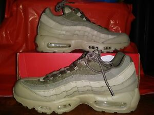 b551365929 New Nike Air Max 95 Premium PRM Men lifestyle sneakers neutral olive ...