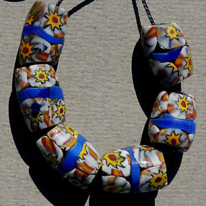 6-old-antique-venetian-oval-shootung-star-millefiori-african-trade-beads-4721