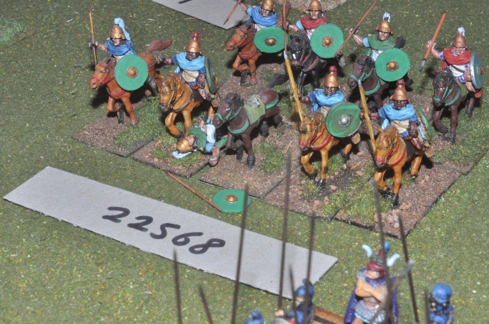 25mm Classical   greek - heavy 9 figures - cav (22568)