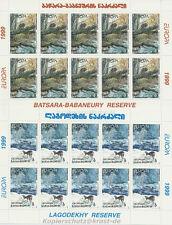 EUROPA CEPT 1999 NATURPARKS NATIONALPARK - GEORGIEN GEORGIA 312-13 KLEINBOGEN **