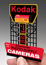 KODAK 3-D BILLBOARD ANIMATED LIGHTED SIGN -HO/O SCALE- FLASHES & MORE-SAVE SALE!