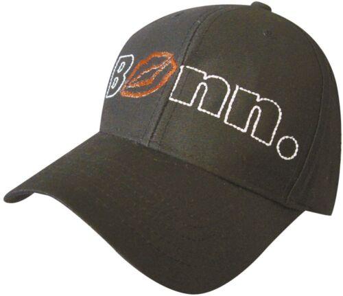 Baseballcap Cap Kappe Schirmmuetze Muetze schwarz mit Stick Bonn Lippen 68879
