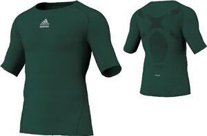 Adidas-Techfit-Shirt-gruen-Laufshirt-Trainings-Fitness-Shirt-Gr-XS-S-L-XXL