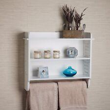 white wall mount bathroom cabinet with adjustable shelves and towel bardanya b