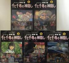 Spirited Away Film Comic Full color Manga 5 set