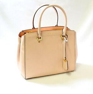 35703be7d4f8 Michael Kors Benning LG Leather Satchel Soft Pink 192317310849 | eBay