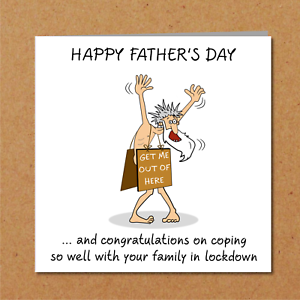 Funny Lockdown Exit Father/'s Day Card Self Isolation Quarantine Dad free