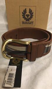 Authentic-BELSTAFF-Women-039-s-Brown-Check-Lady-Belt-75-cms-Waist-30-inches-BNWT