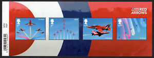 2018 RAF CENTENARY  RED ARROWS Stamp Mini Sheet Mint  WITH BARCODE MARGIN - Cambridgeshire, United Kingdom - 2018 RAF CENTENARY  RED ARROWS Stamp Mini Sheet Mint  WITH BARCODE MARGIN - Cambridgeshire, United Kingdom