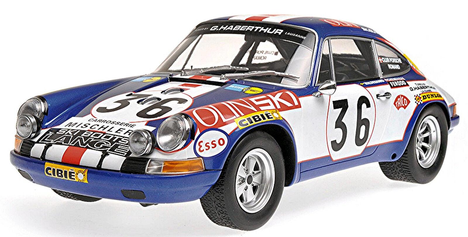 Porsche 911 S Ecurie Jean Sage 24h LeMans 1971 Waldegard 1 18 Minichamps