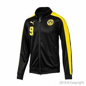 e0167a5e1e7c Men s Puma Borussia Dortmund BVB T7 Full Zip Black Soccer Track ...