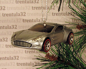 Christmas Sports Car.Details About Aston Martin One 77 Christmas Tree Ornament Metal Flake Silver Sports Car Xmas