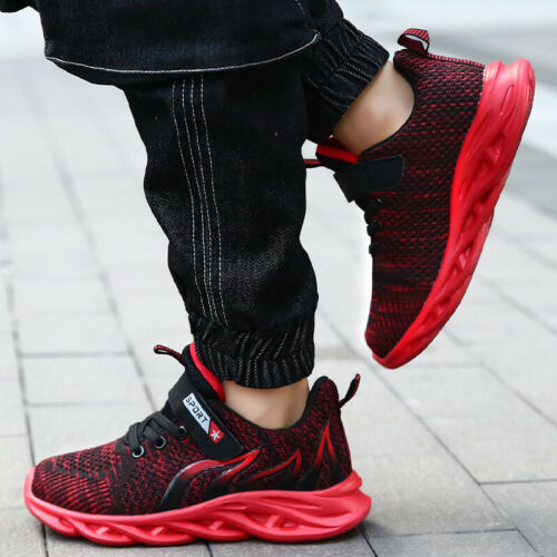 Kids Boys Girls Trainers Running Sports Shoes Children School Sneakers Gym Size