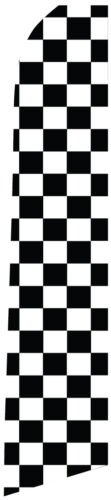 Swooper Feather Flutter Tall FlagFlag OnlyCheckered Pattern 15/' Assembled