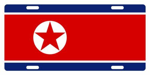 NORTH KOREA Flag Custom License Plate NATIONAL Emblem ORIGINAL Version