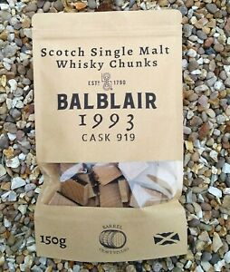 BALBLAIR-1993-Single-Malt-Whisky-Barrel-Chunks-Home-Brew-Spirits-BBQ-Oak-Flavour