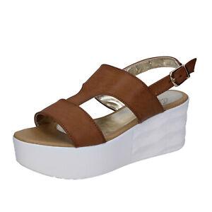 scarpe-donna-QUERIDA-39-EU-sandali-marrone-pelle-BR157-39