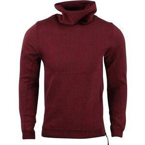 3a6435390c7d  120.00 679908-677 Nike Men Tech Fleece Funnel Sweatshirt (red ...