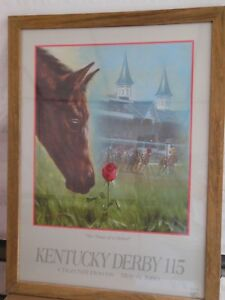 Details About Kentucky Derby 115 Official Poster Celeste Susany Chance Of A Lifetime Framed