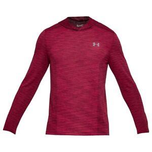 L Under Armour Threadbourne  Mesh Men's Running Long Sleeve Hood Shirt