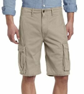 aa8600710b Levi's Men's Premium Cotton Ace Twill Cargo Shorts Relaxed Fit Beige ...