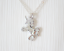 Women Necklace 925 Silver Chain Cubic Zirconia Pendant Girl Ladies Fashion Gift