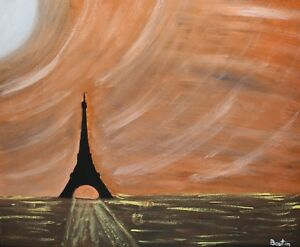 Original-Painting-Paris-at-night-MAKE-AN-OFFER