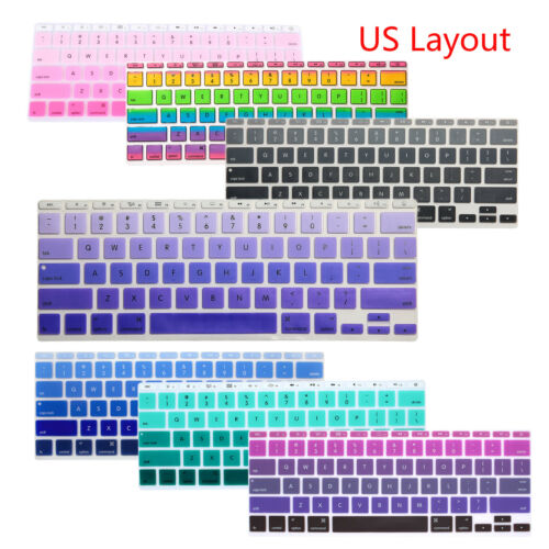 """Slim Silicone Keyboard Cover Skin Protector For Macbook Air 11/"""" MD711 MD223 New"""