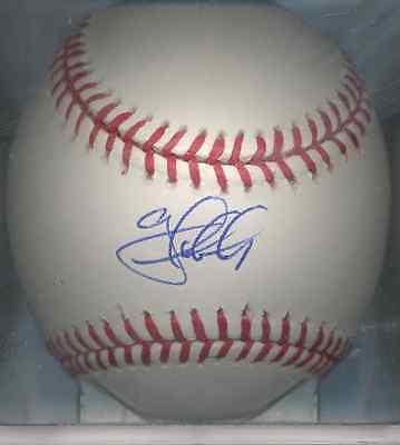 Amiable Greg Dobbs Florida Marlins Oml Autographed Baseball Coa Philadelphia Phillies 08 Wide Selection; Autographs-original