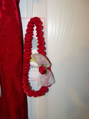 Holiday Red Velvet Outfit Rare Editions Infant Baby Girl Size 6 Months NWT