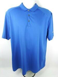 Nike-Golf-Tour-Performance-Dri-Fit-Polo-Golf-Shirt-Size-XL-Blue-100-Polyester