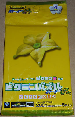 Trading Cards Yellow Flower Pack 4 Pikmin 2 Puzzle Card e
