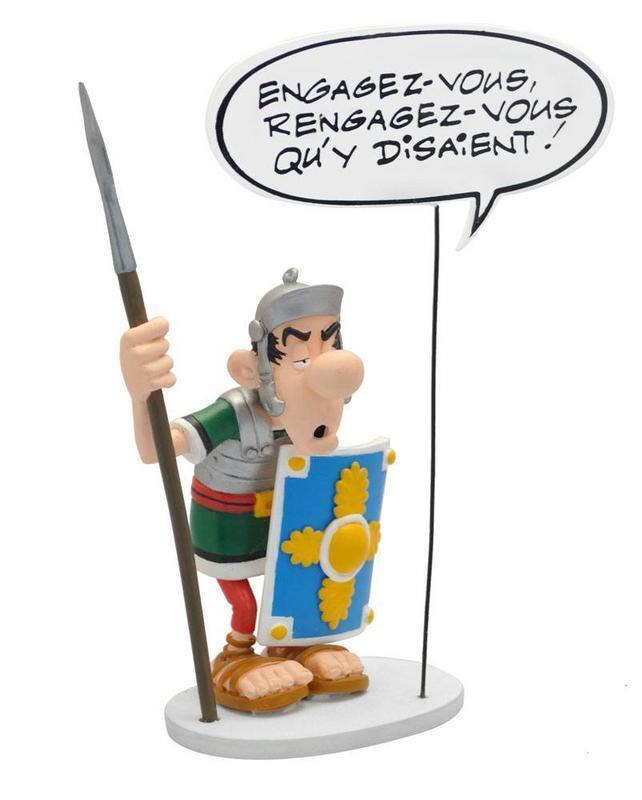 Asterix statuette Collection Bulles Le Légionnaire Romain Engagez-vous   16 cm