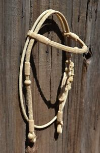 Jose-Ortiz-All-Natural-Rawhide-Santa-Maria-Style-Straight-Browband-Headstall