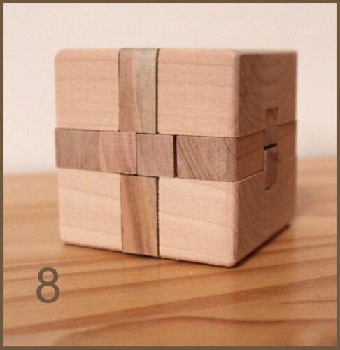 Casse Tête Chinois Jeux Bois educatif intelligent logique patience puzzle 3d