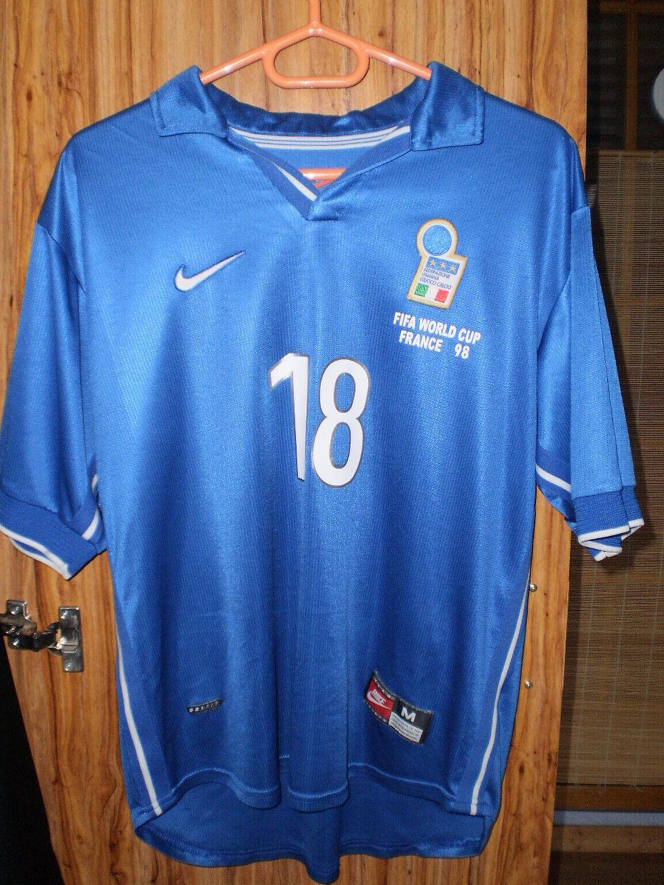 BAGGIO R. 18 ITALIA Maillot Maglia Shirt Officiel World Cup France 98