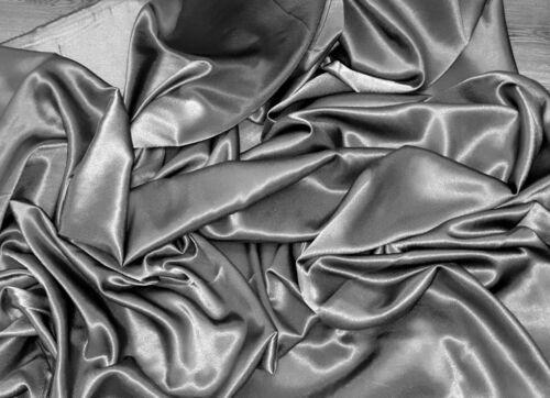 Crepe posterior Satinado Tela Gris 58 pulgadas de ancho Metro Rollos de cuarto gordo