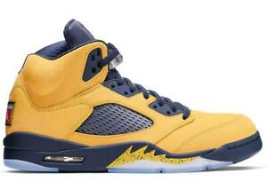 Mens-Air-Jordan-Retro-5-V-SP-Inspire-Michigan-Amarillo-College-Navy-CQ9541-704
