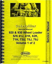 Cat Caterpillar 920 930 Wheel Loader Service Shop Manual