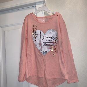 New-Justice-Girls-Shirt-Top-Paris-Always-Magical-Long-Sleeve-Lace-Tunic-8-Leopar