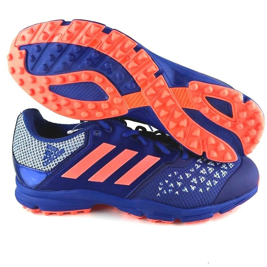 Adidas zona dox hockey Uomo sz 9 14 scarpa blu arancione allenatori calcio