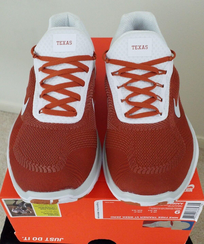 3ad1c1968e39 TEXAS LONGHORNS UT UT UT Nike Free Trainer V7 Week Zero Shoes Size 9 7b9ac9