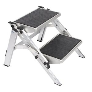 Portable Aluminium Folding Double Step For Caravan