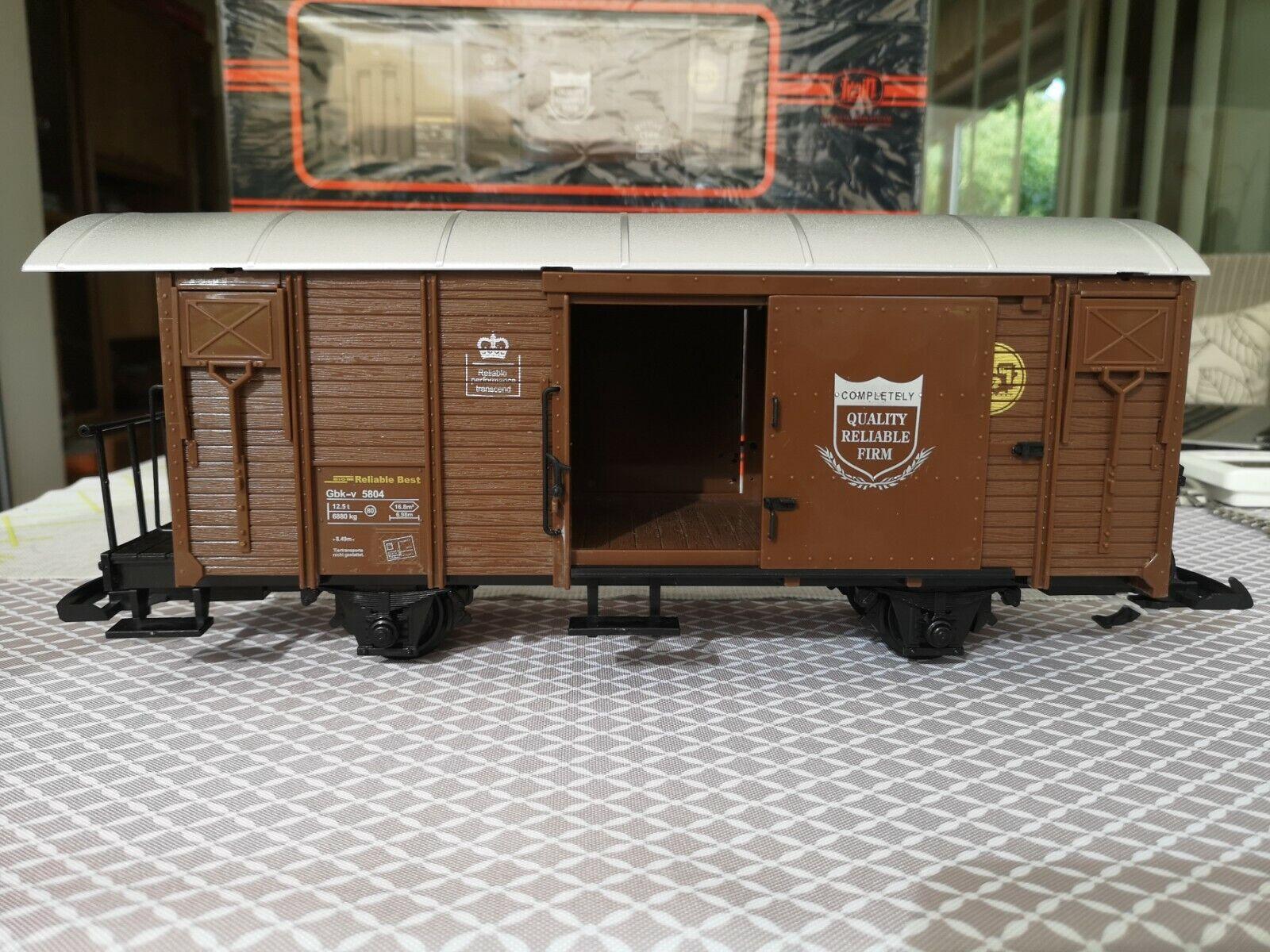 Für LGB    3  NEWQIDA  geschlossener Güterwagen brandneu in Box 3