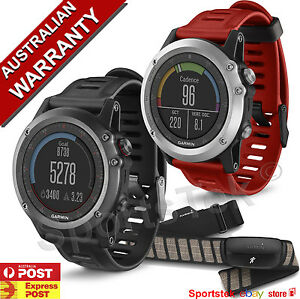 Garmin Fenix 3 Multisport Gps Watch Grey Black Silver Red Hrm
