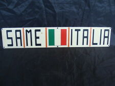 TARGHETTA SCRITTA TRATTORE SAME ITALIA EMBLEM SAME TRACTORS 4X4 OLD ITALY