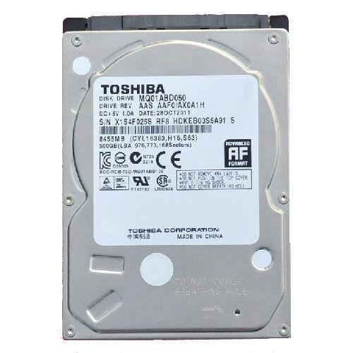 """Toshiba 500GB MQ01ABD050 5400RPM SATA 3Gb/s 2.5"""" Laptop HDD Hard Disk Drive"""