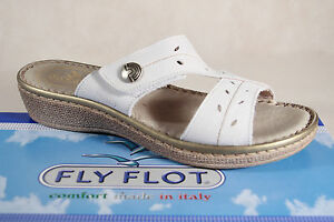 Bianco House Flot Shoes Pelle Pantofole Nuovo Vera Ladies Fly 4w7Fqx