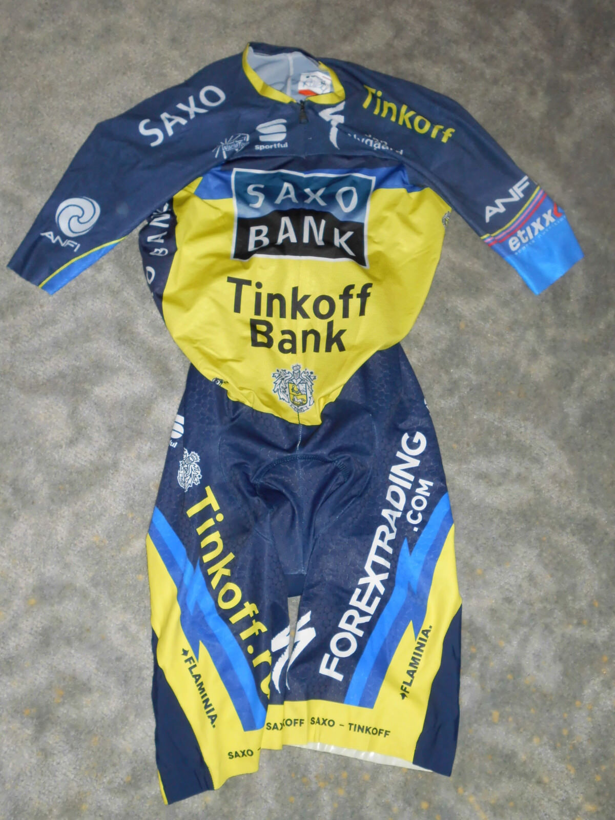 Sportful Tinkoff Team Saxo Tinkoff Sportful Zeitfahranzug / Skinsuit Gr. M a6fda7