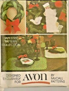 McCall-039-s-Sewing-Pattern-5380-Avon-Christmas-Transfer-Included-Braid-Wreath-Uncut